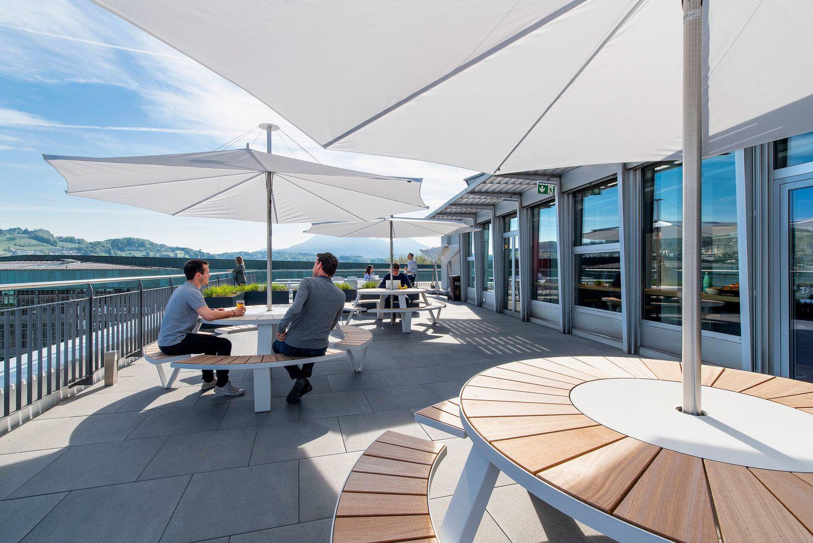 Terrassen für das Arbeiten im Freien