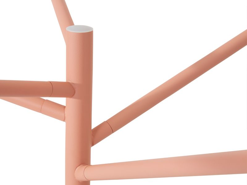 Structured powder-coated stainless steel